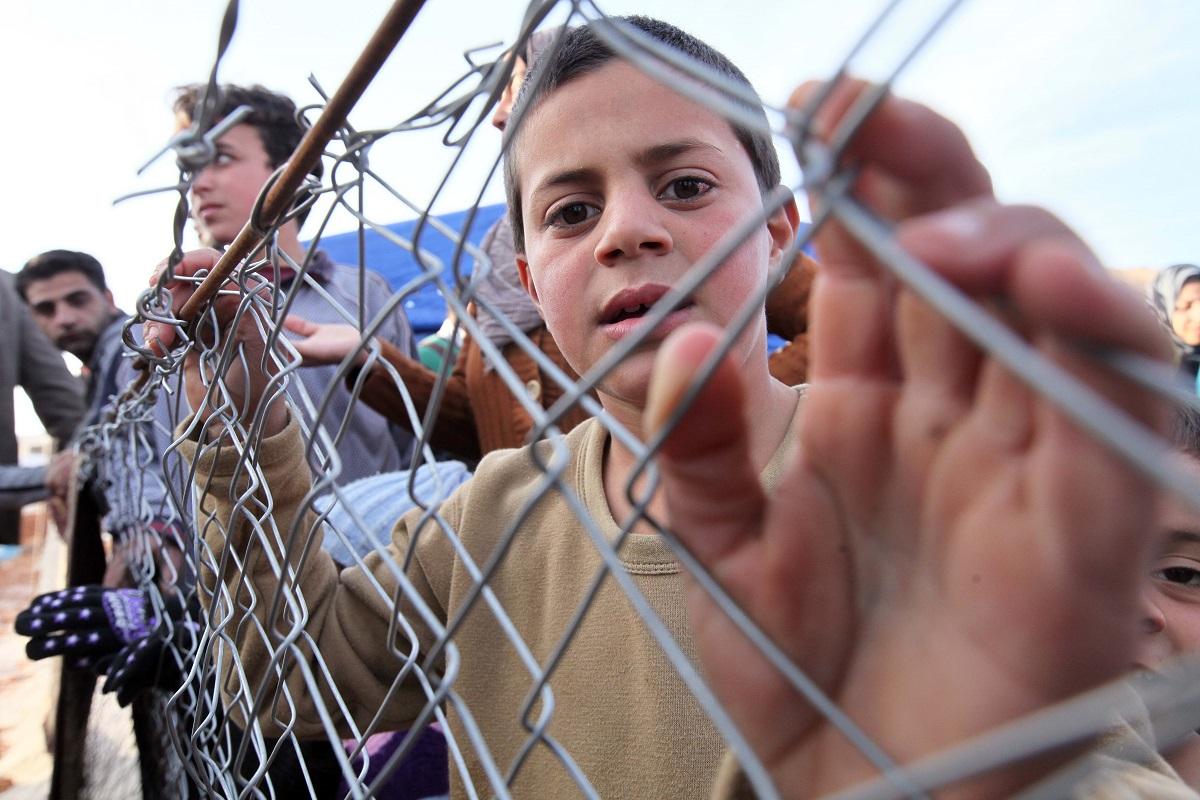 Szíriai menekült Libanonban (Array)