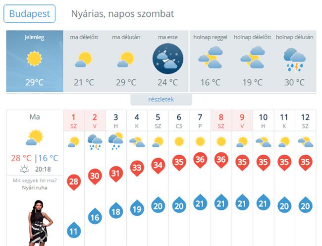 időjárás (Array)