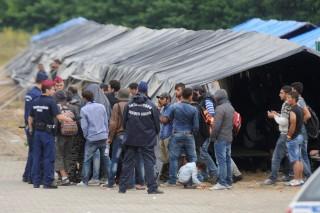 Illegális bevándorlás - Kisebb konfliktus volt a röszkei hangárnál