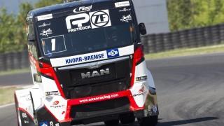 Most, 2015. augusztus 29. A címvédõ Kiss Norbert, az Oxxo Racing-Axxyss Motorsport pilótája a kamion Európa-bajnokság csehországi Mostban zajló versenyhétvégéjén 2015. augusztus 29-én. MTI Fotó: Richard Kienberger