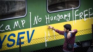 Bicske, 2015. szeptember 4.A bicskei állmáson álló vonaton éjszakázó illegális bevándorlók egyike 2015. szeptember 4-én a szerelvény mellett. A rendőrség korábban leszállította a bevándorlókat a vonatról, hogy a befogadóállomásra kísérje őket, de miután nem voltak hajlandóak elindulni a központba, később visszaengedték az embereket a szerelvényekre. A szerelvényen maradt mintegy ötszáz migráns a regisztrációhoz szükséges rendőri intézkedéssel szemben továbbra is passzív ellenállást tanúsít, és nem hajlandó együttműködni.MTI Fotó: Bodnár Boglárka