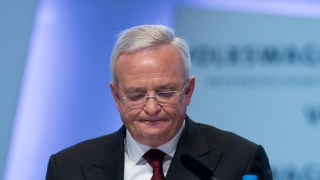 (FILES) Picture taken on March 13, 2014 shows Martin Winterkorn, then CEO of German carmaker Volkswagen (VW), attending the company's annual press conference in Berlin. The prosecution in Braunschweig, central Germany, announced on September 28, 2015, that it had opened a probe against VW ex-CEO Winterkorn in connection with Volkswagen's pollution-cheating scandal.    AFP PHOTO / JOHANNES EISELE