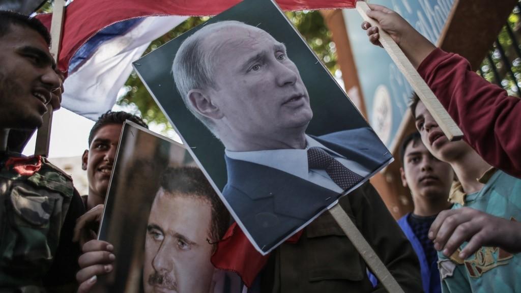 2290432 Syria, Latakia. 09/24/2013 Participants of the rally to support Syrian President Bashar al-Assad and Russian President Vladimir Putin in Latakia. Andrey Stenin/RIA Novosti