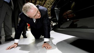 FILE- A file picture made available on 22 September 2015 shows Volkswagen AGCEOMartin Winterkorn as he checks the bottom side of a Porsche GT2 during a tour on the first media day of the 78th Geneva International Motor Show in Geneva, Switzerland, 04 March 2008. Photo: MARIJANMURAT/dpa