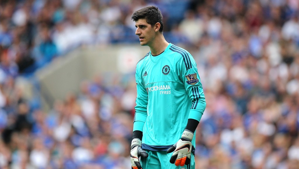 Thibaut Courtois of Chelsea during the English championship football, Barclays Premier League match between Chelsea and Swansea City on August 8, 2015 at Stamford Bridge, London, England - Photo Michael Zemanek / Backpage Images / DPPI