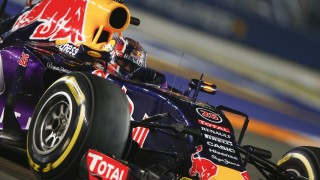 KVYAT daniil (rus) red bull renault rb11 action during the 2015 Formula One World Championship, Singapore Grand Prix from September 16th to 20th 2015 in Singapour. Photo Frederic Le Floc'h / DPPI