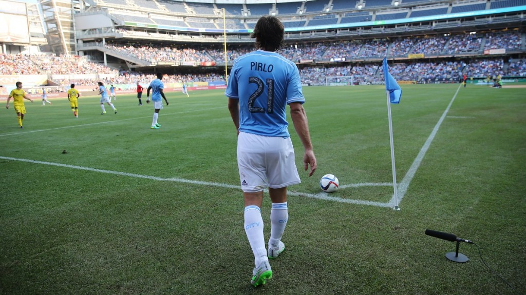 Andrea Pirlo of New York during the USA championship MLS football match between New York City and Colombus Crew on August 29, 2015 at Yankee Stadium in New York, USA. Photo Backpage Images / DPPI