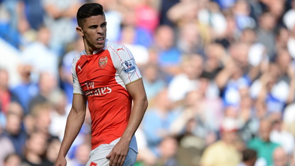 Gabriel Paulista of Arsenal during the English championship Premier League football match between Chelsea and Arsenal on september 19, 2015 at Stamford Bridge in London, England. Photo Javier Garcia / Backpage Images / DPPI