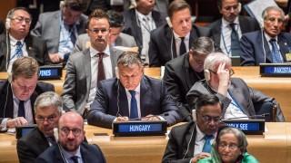 Orbán Viktor az ENSZ terrorizmussal foglalkozó értekezletén New Yorkban