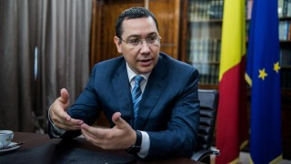 Victor Ponta, Romania's prime minister, speaks during an interview at the Victoria Palace in Bucharest, Romania, on Thursday, June 11, 2015. XXX ADD SECOND SENTENCE XXX Photographer: Akos Stiller/Bloomberg *** Local Caption *** Victor Ponta