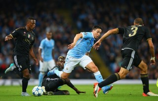 during the  UEFA Champions League Group D match between Manchester City FC and Juventus at the Etihad Stadium on September 15, 2015 in Manchester, United Kingdom.