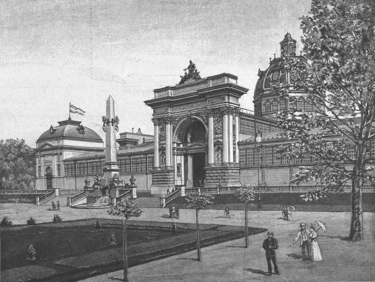 Az 1885-ös kiállításra épült Iparcsarnok