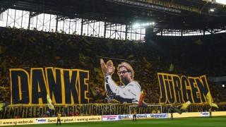 during the Bundesliga match between Borussia Dortmund and Werder Bremen at Signal Iduna Park on May 23, 2015 in Dortmund, Germany.