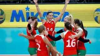 Antwerpen, 2015. szeptember 27. Magyar játékosok a nõi röplabda Európa-bajnokság B csoportjának második fordulójában játszott Magyarország-Törökország mérkõzésen Antwerpenben 2015. szeptember 27-én. A török válogatott 3-0-ra gyõzött. (MTI/EPA/Laurent Dubrule)