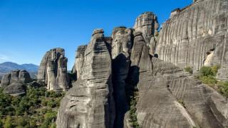 Meteora Monasteries Landscape