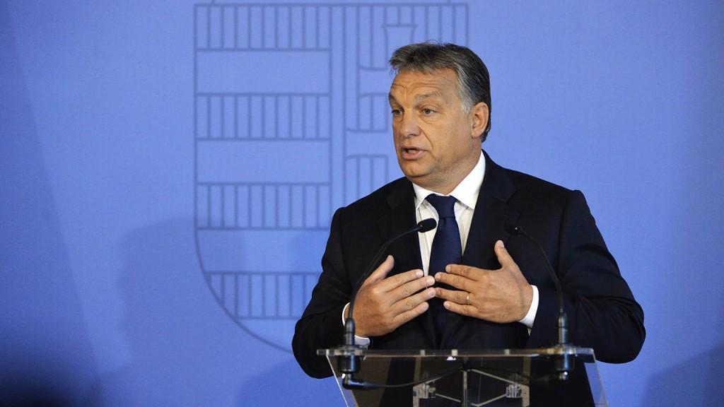 Budapest, 2015. szeptember 7.Orbán Viktor miniszterelnök mond beszédet a Külgazdasági és Külügyminisztérium misszióvezetői értekezlete megnyitóján Budapesten 2015. szeptember 7-én. MTI Fotó: Koszticsák Szilárd