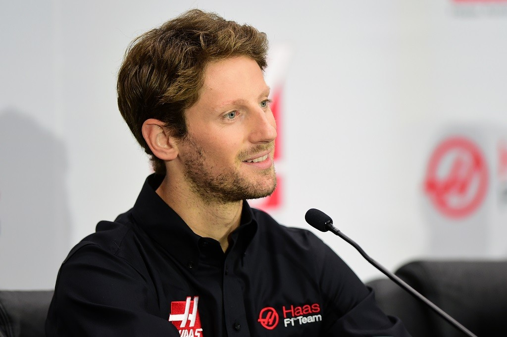 KANNAPOLIS, NC - SEPTEMBER 29:  as Haas F1 Team announces Romain Grosjean of France as their driver for the upcoming 2016 Formula 1 season on September 29, 2015 in Kannapolis, North Carolina.  (Photo by Jared C. Tilton/Stewart-Haas Racing via Getty Images)