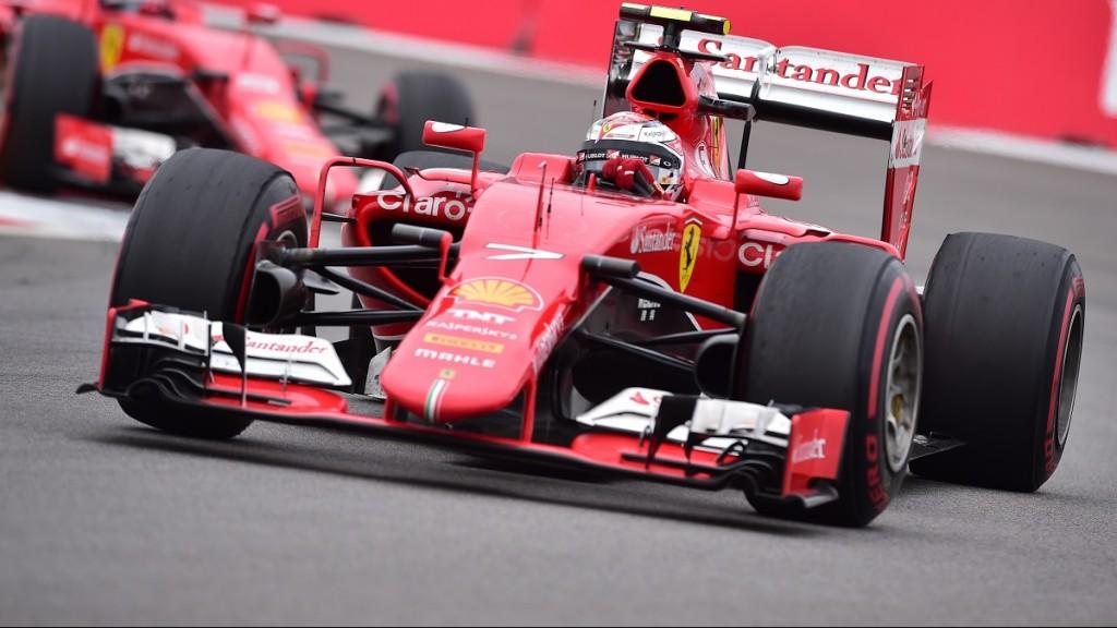 Ferrari's Finnish driver  Kimi Raikkonen drives his car during the Russian Formula One Grand Prix at the Sochi Autodrom circuit on October 11, 2015. AFP PHOTO / ANDREJ ISAKOVIC