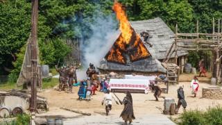 France, Vendee, Les Epesses, Le Puy du Fou historical theme park, the vikings show