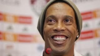 LANCEPRESS! - (Brazil Out) - Rio de Janeiro - 31.08.2015 - Foto de Wagner Meier/Lancepress! - Coletiva de Imprensa do Fluminense com Ronaldinho Gaúcho - Local : Laranjeiras -  NF:  Ronaldinho Gaúcho.