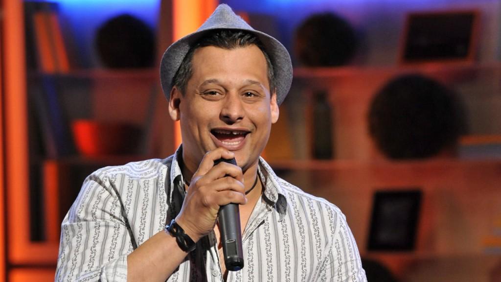 Budapest, 2012. március 2.Bebe (Abebe Dániel) énekel a Ma reggel hétvége című TV-műsorban, az MTVA 2-es stúdiójában. MTVA Fotó: Zih Zsolt