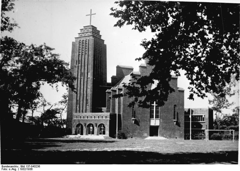 Südchina, Shanghai, deutsch-evangelische Kirche, erbaut 1932