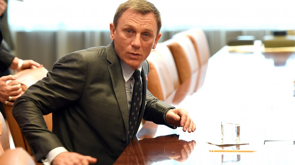 Actor Daniel Craig, who was named as the UN Global Advocate for the Elimination of  Mines and Explosive Hazards at the United Nations in New York on April 14, 2015.  AFP PHOTO /  TIMOTHY  A. CLARY