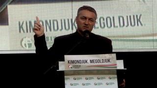 A Jobbik tüntetése a Közel-Kelet békéjéért Budapesten