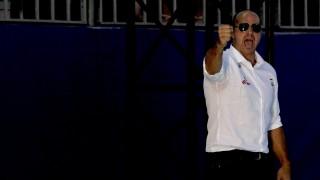 Kazany, 2015. augusztus 6. Benedek Tibor szövetségi kapitány az 5-8. helyért játszott Magyarország - Egyesült Államok férfi vízilabda-mérkõzésen a kazanyi vizes világbajnokságon 2015. augusztus 6-án. A címvédõ magyar válogatott 13-9-re gyõzött, így az ötödik helyért játszhat. MTI Fotó: Kovács Anikó