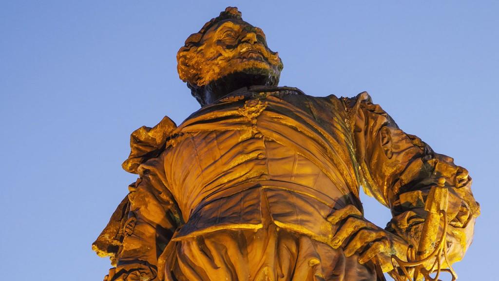 England,Devon,Tavistock,Statue of Sir Francis Drake