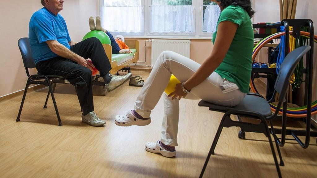 Szigetvár, 2014. november 6.Tornaterem a Szigetvári Kórház rehabilitációs részlegén, amelyet 2014. november 6-án avattak fel.MTI Fotó: Sóki Tamás