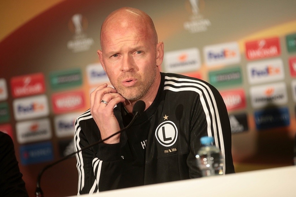 Legia Warszawa's Norwegian coach Henning Berg  during press  conference at Wojska Polskiego Stadion in Warszawa on September 30, 2015. PH. CONTROLUCE/ PIETRO MOSCA