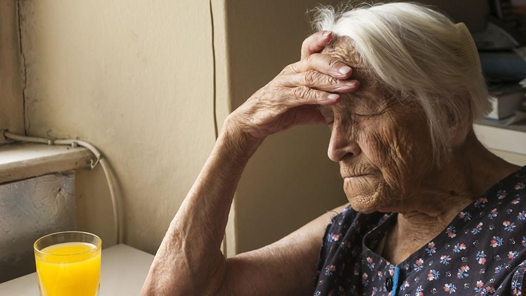 Old lady dozing