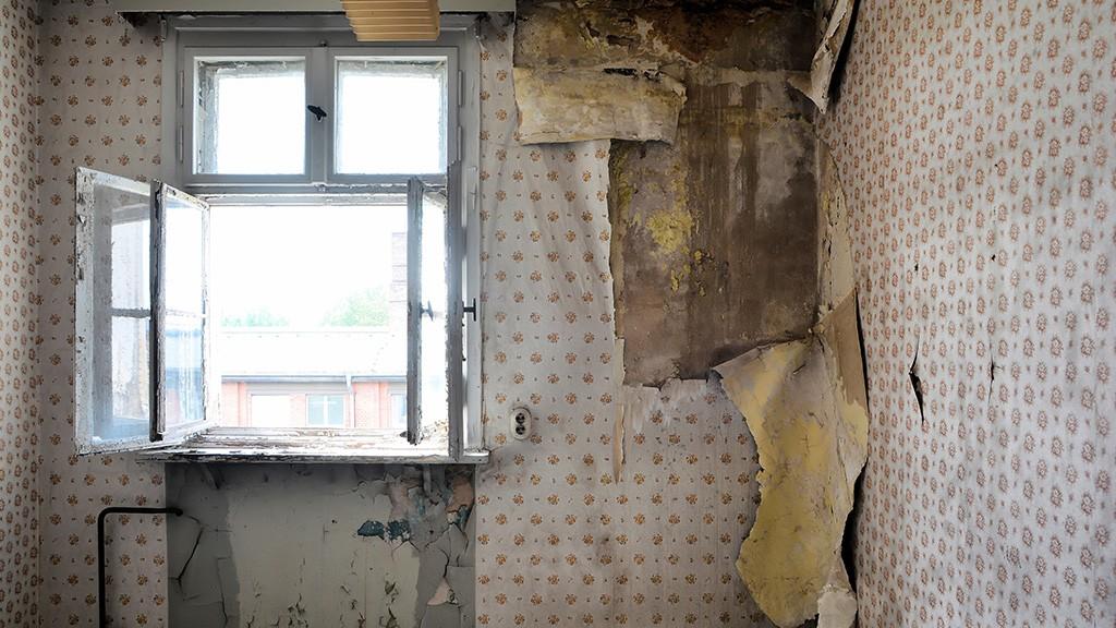 dilapidated apartment