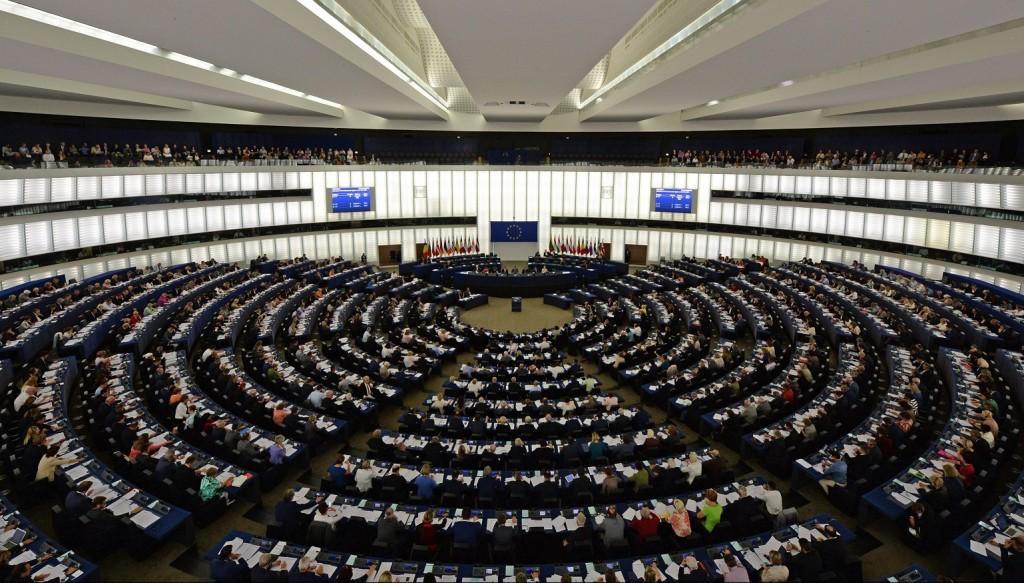 Strasbourg, 2015. szeptember 8. Az Európai Parlament plenáris ülése Strasbourgban 2015. szeptember 8-án. (MTI/EPA/Patrick Seeger)