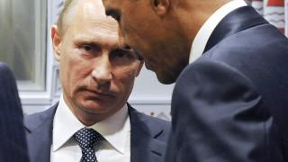 New York, 2015. szeptember 29.Barack Obama amerikai (b) és Vlagyimir Putyin orosz elnök az ENSZ-közgyűlés 70. ülésszaka idején rendezett kétoldalú megbeszélésükön a világszervezet New York-i székházában 2015. szeptember 28-án. (MTI/AP/Pool/Ria Novosztyi/Kreml/Mihail Klimentyev)