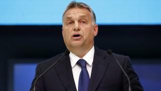 Madrid, 2015. október 22. Orbán Viktor miniszterelnök beszédet mond az Európai Néppárt (EPP) madridi tisztújító kongresszusának második napján, 2015. október 22-én. (MTI/EPA/J.J. Guillen)