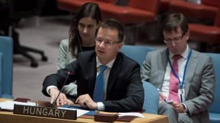 Szijjártó Péter felszólat az ENSZ BT nyílt vitájában