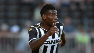 Angers' Cameroonian forward Jean-Pierre Nsame runs with the ball during the friendly football match between Angers and Lorient on August 1, 2015 at the Jean Bouin stadium in Angers, western France. AFP PHOTO / JEAN-SEBASTIEN EVRARD
