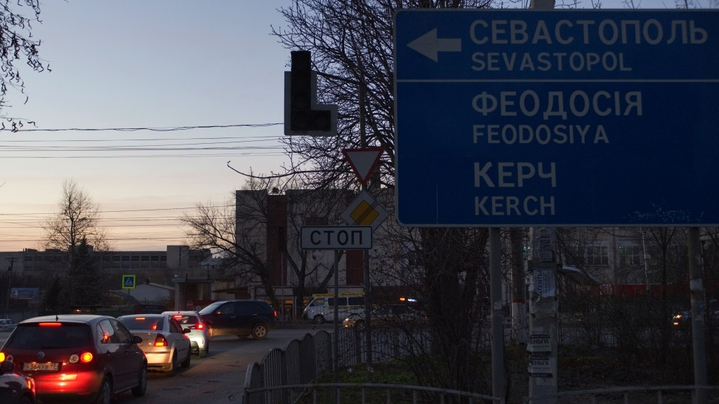 2744006 11/22/2015 Blacked-out traffic signals on the intersection of Sevastopolskaya and Danilova streets in Simferopol. Early on Sunday November 22, two electricity transmission lines from Ukraine were cut, causing a blackout on the entire peninsula. Sergey Malgavko/Sputnik