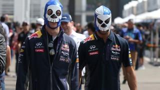 Motorsports: FIA Formula One World Championship 2015, Grand Prix of Mexico,  #26 Daniil Kvyat (RUS, Infiniti Red Bull Racing), #3 Daniel Ricciardo (AUS, Infiniti Red Bull Racing),