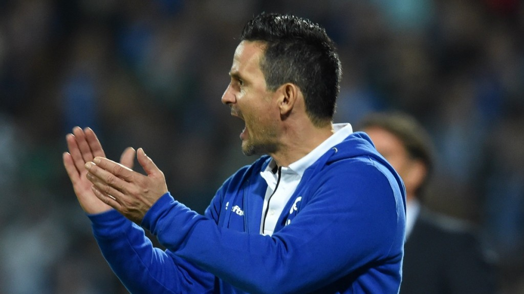 Darmstadt coach Dirk Schuster pictured during the German Bundesliga soccer match between SV Darmstadt 98 and Hamburg SV in Darmstadt, Germany, 07 November 2015. Photo:ARNEDEDERT/dpa  (EMBARGOCONDITIONS - ATTENTION - Due to the accreditation guidelines, the DFLonly permits the publication and utilisation of up to 15 pictures per match on the internet and in online media during the match)