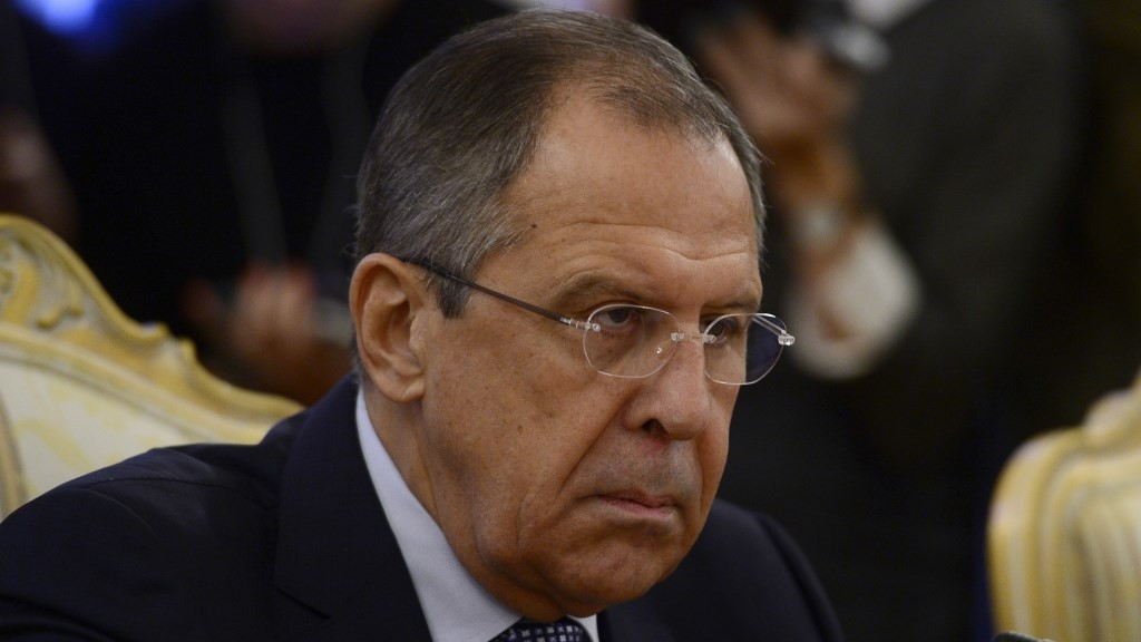 MOSCOW, RUSSIA NOVEMBER 18: Russian Foreign Minister Sergey Lavrov speaks during a meeting at the guest house of Russian Foreign Ministry building, in Moscow, Russia, on November, 18,2015. Sefa Karacan / Anadolu Agency