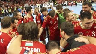 Veszprém, 2015. október 17. A veszprémi csapat az MVM Veszprém - THW Kiel férfi kézilabda Bajnokok Ligája csoportmérkõzésen, a Veszprém Arénában 2015. október 17-én. MTI Fotó: Kovács Anikó