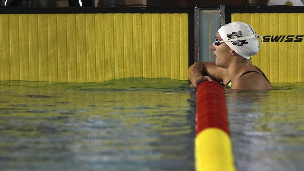 Százhalombatta, 2015. november 12. Hosszú Katinka a 200 méteres hátúszás döntõjében az úszók 12. rövidpályás országos bajnokságán a százhalombattai Kiss László uszodában 2015. november 12-én. MTI Fotó: Kovács Anikó