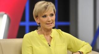 Budapest, 2015. január 28. Jakupcsek Gabriella újságíró, mûsorvezetõ a Hogy volt!? címû tv-mûsor felvételén, az MTVA Kunigunda utcai gyártóbázisának 7-es stúdiójában.  MTVA Fotó: Zih Zsolt