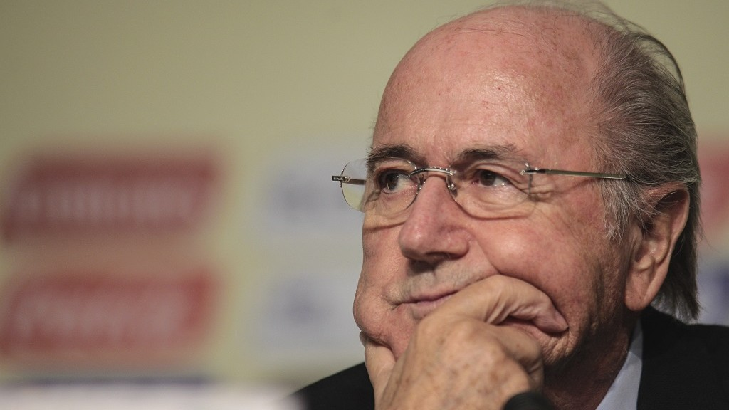 SAO PAULO, BRAZIL - NOVEMBER 30: Joseph Blatter, President of FIFA, during a press conference to announce the Official Draw of the FIFA Confederations Cupo Brazil 2013, at Parque Anhembi, on November 30, 2012 in Sao Paulo, Brazil. (Photo by Vanessa Carvalho/News Free/LatinContent/Getty Images)