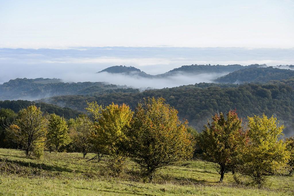 Salgótarján, 2015. október 18.Köd a távolban Salgótarjánnál, a Medves-fennsíkról fotózva 2015. október 18-án.MTI Fotó: Komka Péter