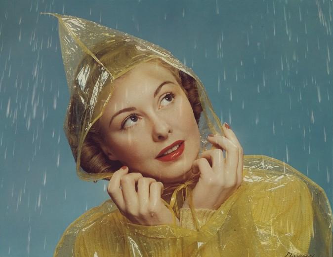 MCCALL MAGAZINE COVER, GIRL IN RAIN