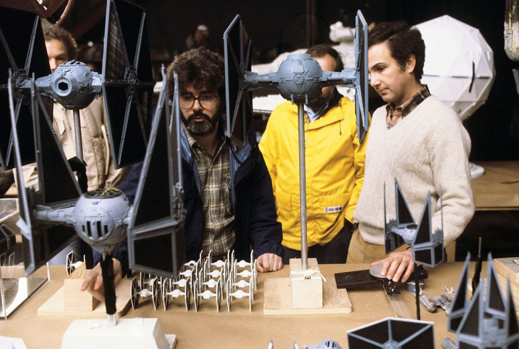 Star Wars: Episode IV - A New HopeYear : 1977 USADirector : George LucasGeorge LucasShooting picture.It is forbidden to reproduce the photograph out of context of the promotion of the film. It must be credited to the Film Company and/or the photographer assigned by or authorized by/allowed on the set by the Film Company. Restricted to Editorial Use. Photo12 does not grant publicity rights of the persons represented.